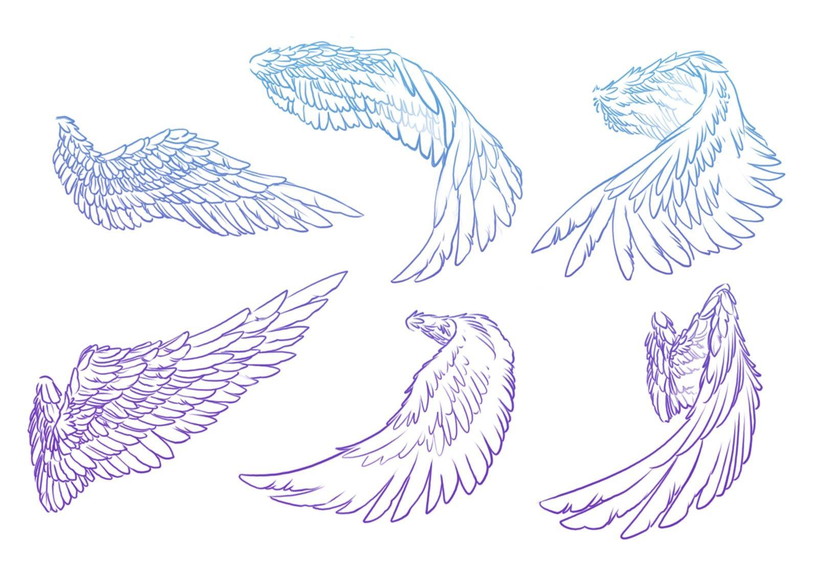крылья рисунок карандашом этой