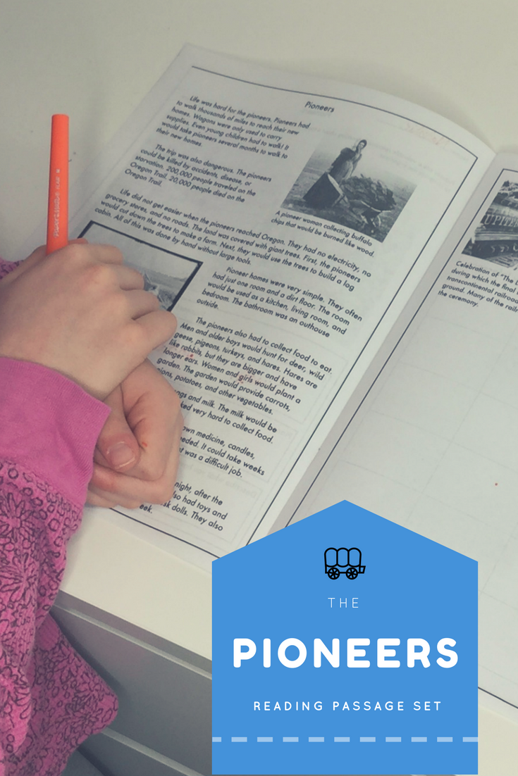3 Are You Teaching Your Class About Pioneers And The Oregon Trail This Reading Pas Reading Passages Upper Elementary Literacy Differentiated Reading Passages [ 1102 x 735 Pixel ]