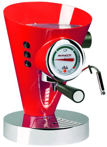 Bugatti Diva espressomachine rood