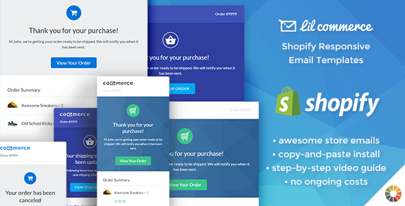 Cool Lil Commerce Shopify Responsive E Mail Templates E Mail