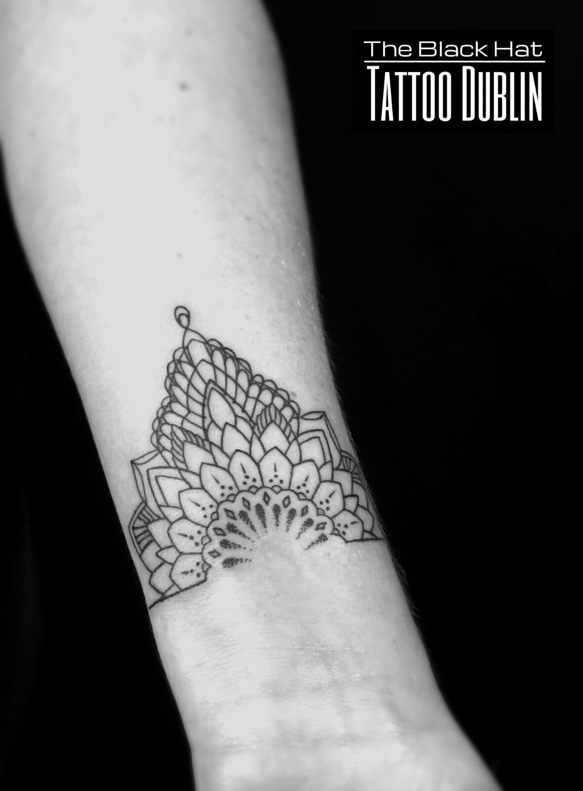 aba4284add940 delicate mandala style tattoo - a very small wrist tattoo idea ...