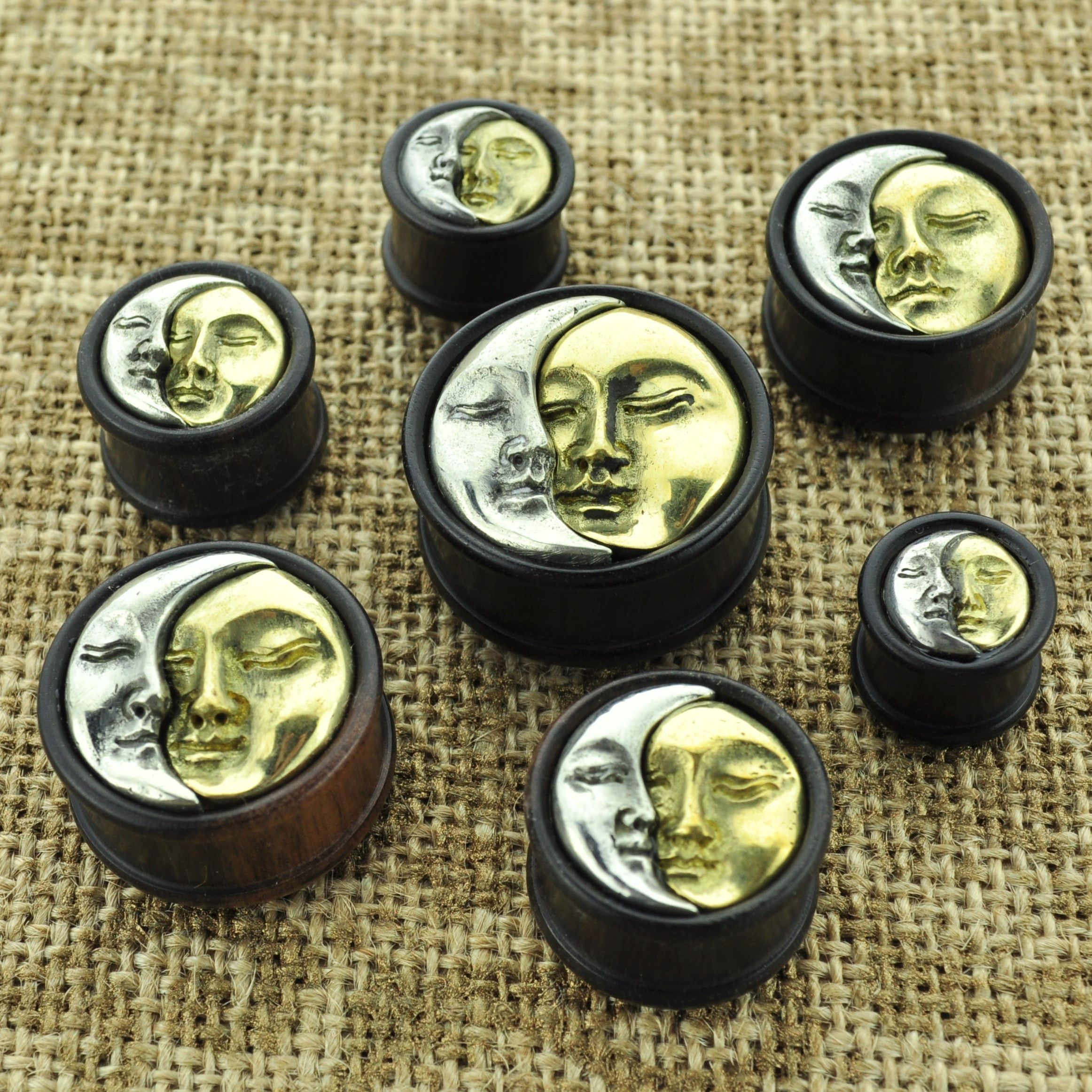 earrings claire s plug faux plugs black round us matte