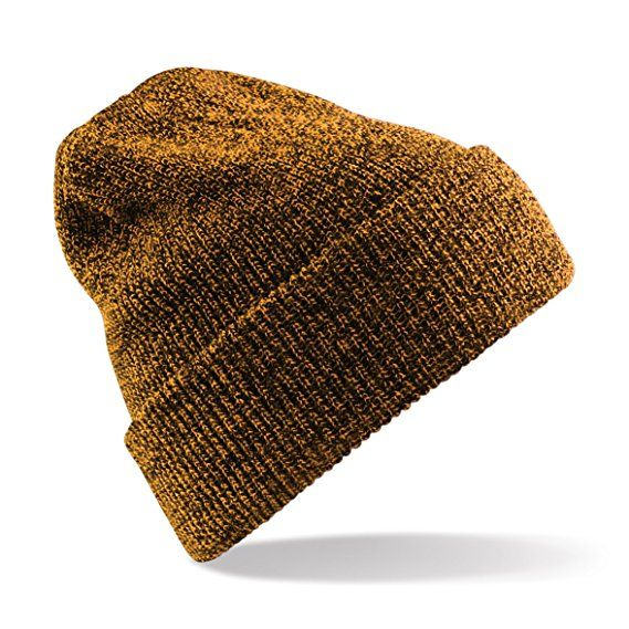 2ca5a5d131b Beechfield Heritage Ladies Womens Premium Plain Winter Beanie (One Size)  (Antique Mustard)