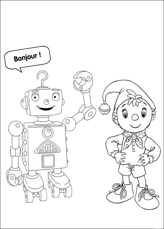 Noddy Coloring Pages 6 | coloring pages | Pinterest | Dibujos para ...