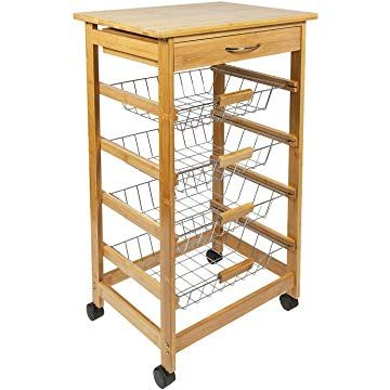 Wire Kitchen Cart Makeover