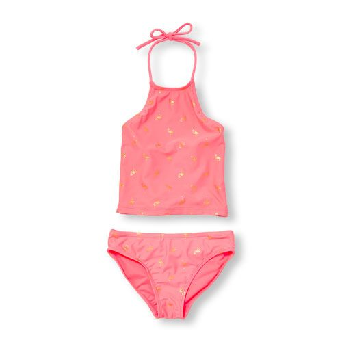 70fda8baf8e ChildrensPlace - Girls Flamingo Print Two-Piece Tankini Swimsuit ...