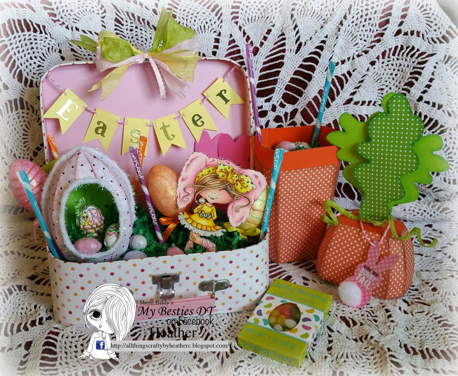 Sherri baldy art easter in a suitcase easter pinterest today i have a very special project that i have created for my granddaughter this is my suitcase easter basket negle Choice Image