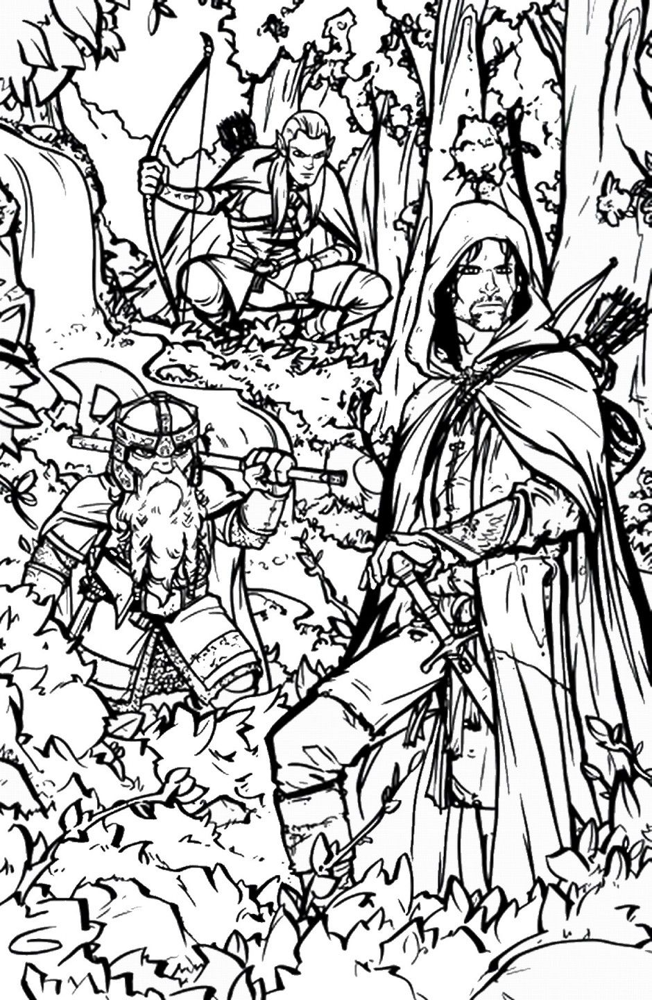 How To Draw Lord Of The Rings Lord Of The Rings Step By Step