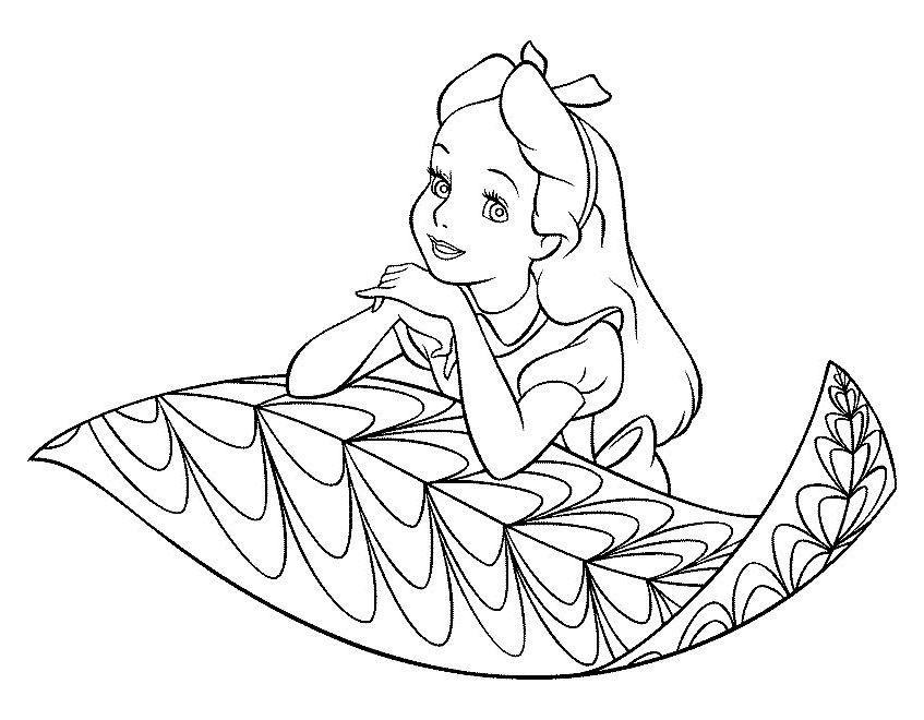 Dibujo De Mandala 11 Para Pintar Y Colorear En Línea: Desenhos Para Pintar Alice No País Das Maravilhas 11