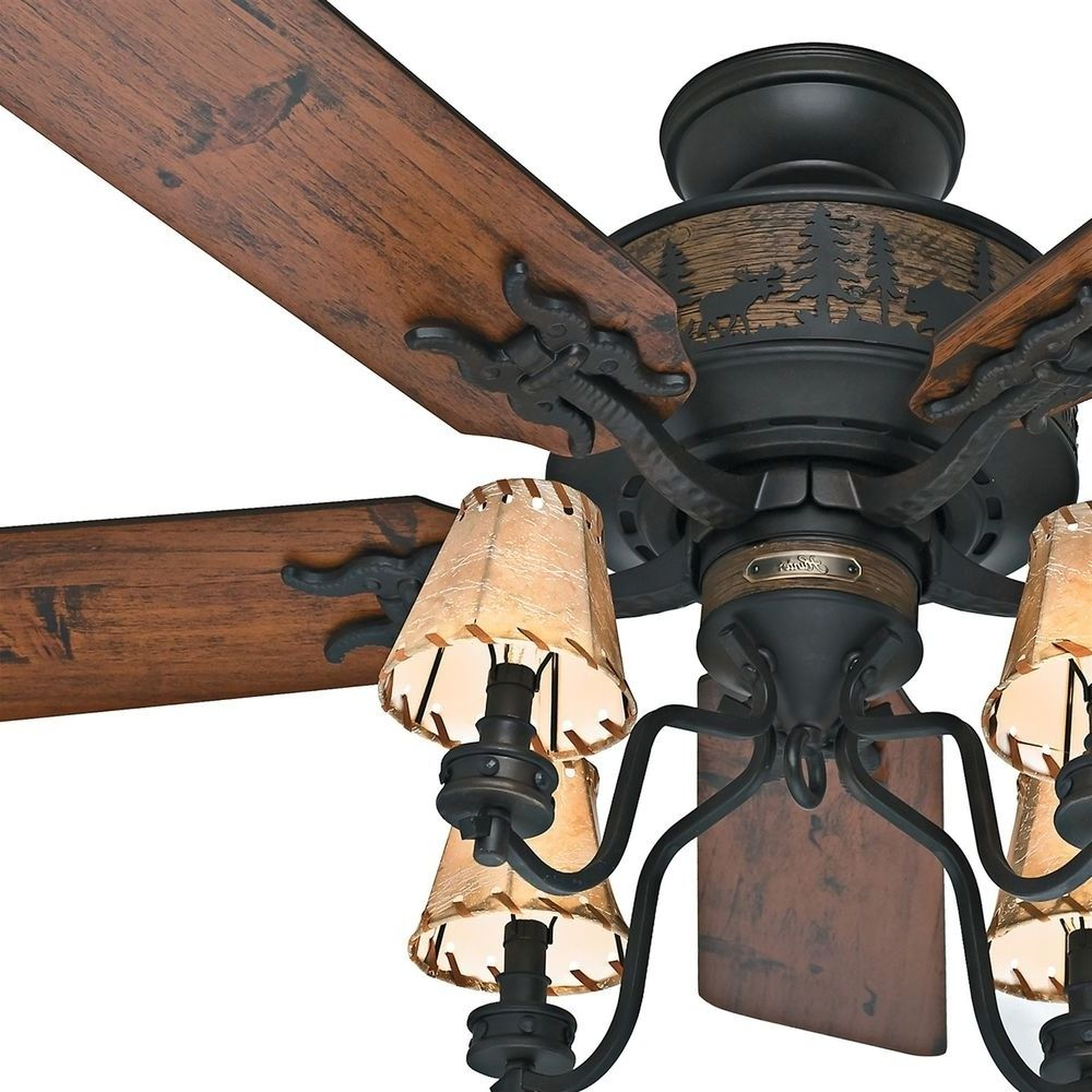 Hunter rustic lodge ceiling fan httpladysrofo pinterest hunter rustic lodge ceiling fan mozeypictures Image collections