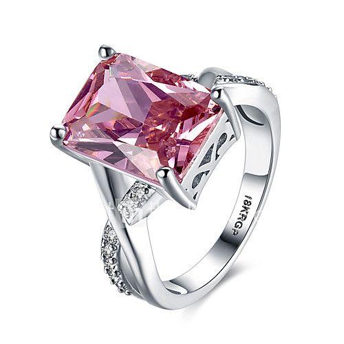 dfa039efbd5 Mulheres Anéis Grossos Maxi anel Rubi Amor Moda Personalizado bijuterias  Gema Prata de Lei Zircão Imitações de Diamante Formato de Coração de 2017  por R ...