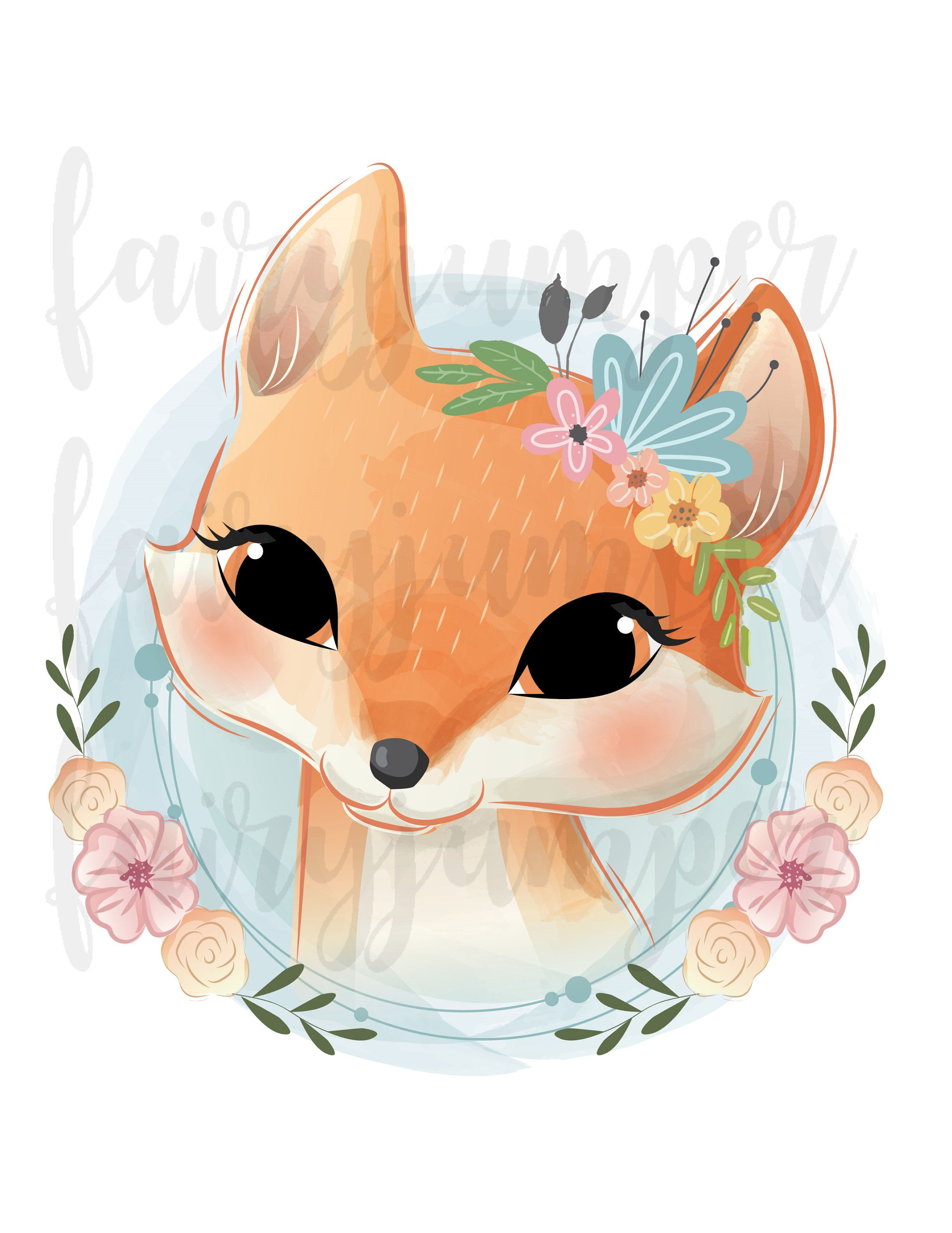 Fox clipart baby fox clipart Sublimation graphics Fox | Etsy