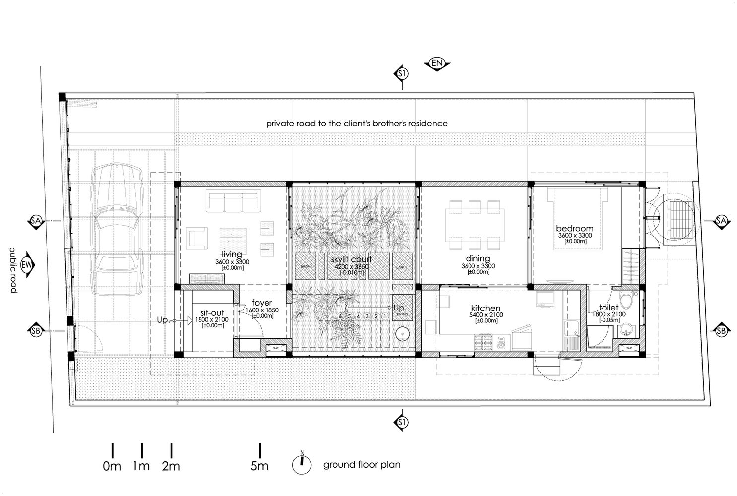 Gallery of the breathing wall residence lijo reny for Wall homes floor plans