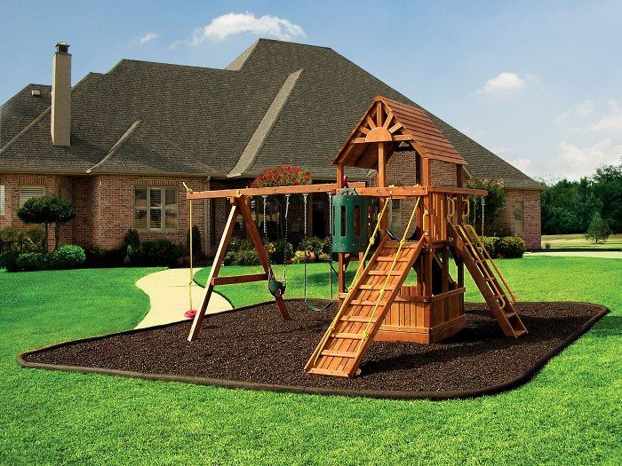 Beau Wooden Slide And Swing For Kid Playground At Backyard Festive Home Design  With Playground At Your