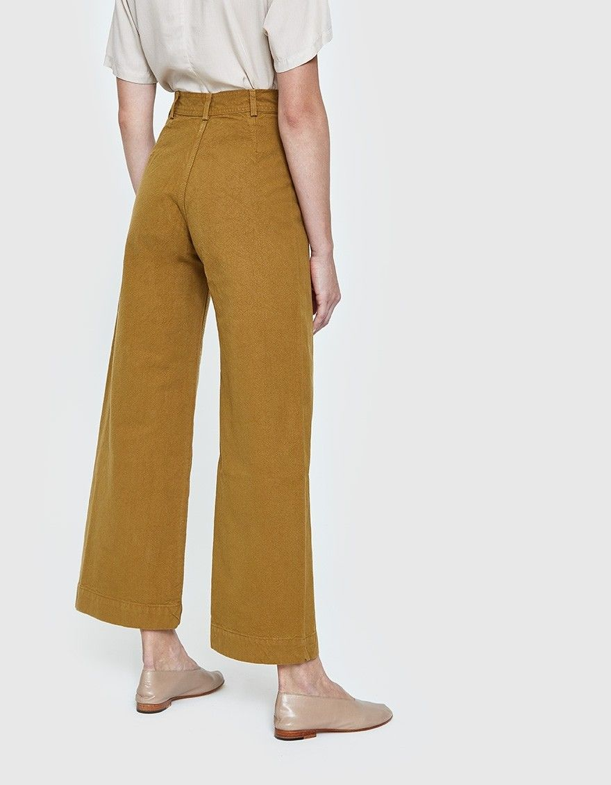 Iconic Sailor Pant From Jesse Kamm In Tobacco Button Fly With Top