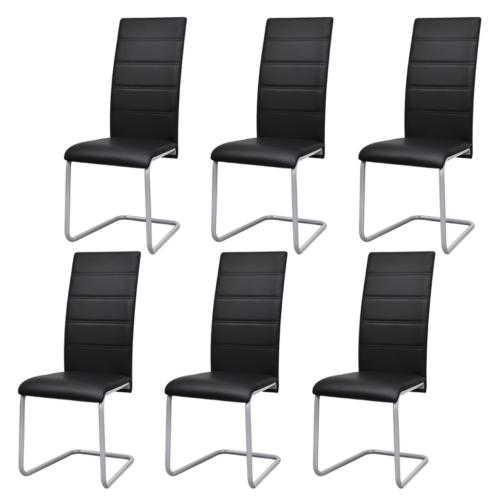 6xdesign Freischwinger Esszimmerstuhl Schwingstuhl Sitzgruppe Hochlehner Stuhle Sparen25 Com Sparen25 Leder Esszimmer Stuhle Schwarze Essstuhle Freischwinger