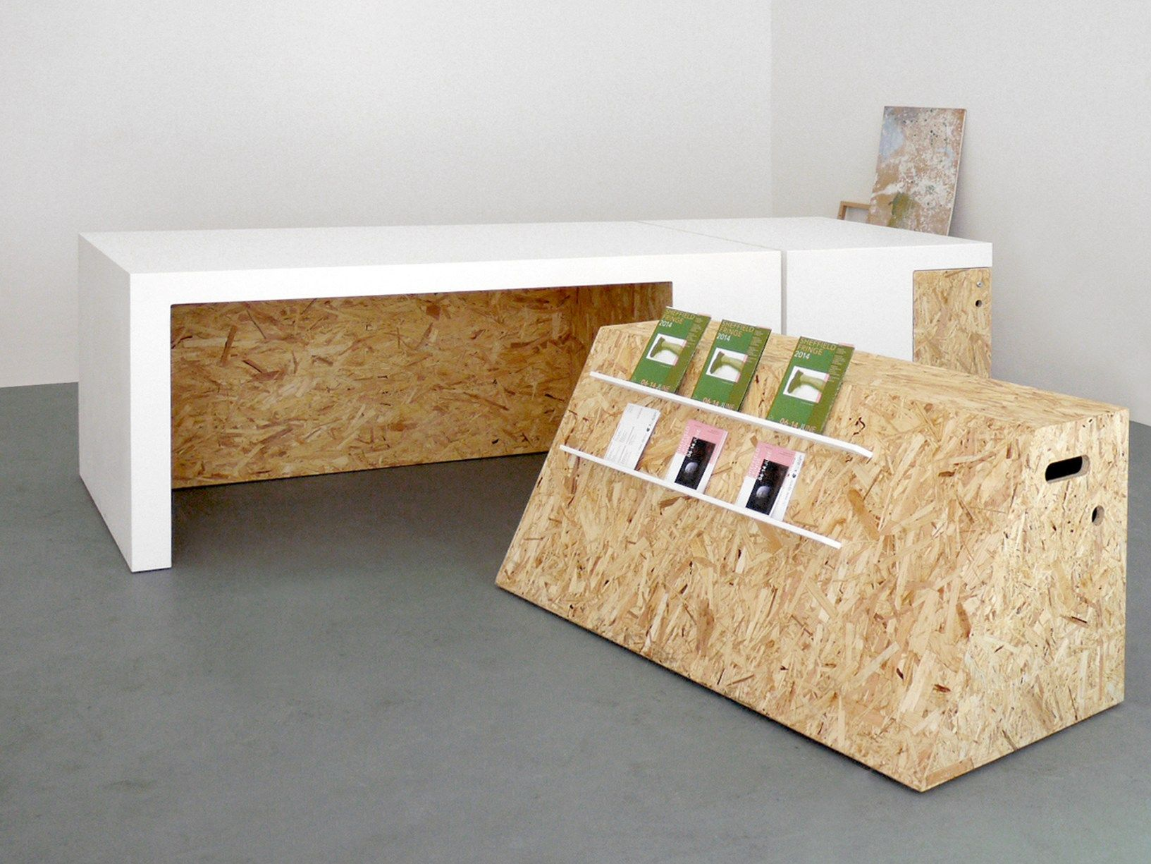 Solid Surface And Osb For Versatile Furniture Pieces Studio Polpo  # Muebles Hi Macs