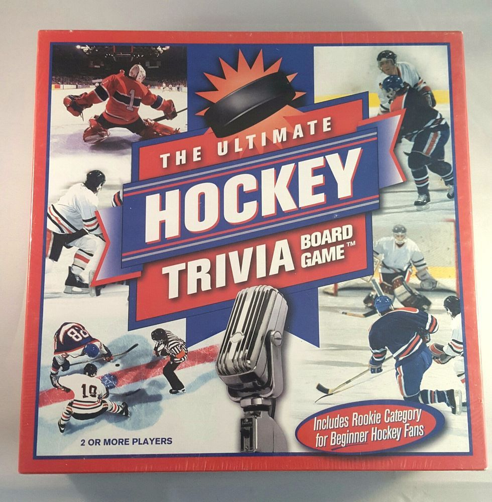 Nhl Hockey Trivia Board Game The Ultimate For Hockey Fans New Factory Sealed Outsetmedia Hockey Fans Trivia Board Games Board Games