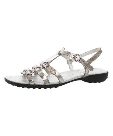 Look what I found on #zulily! Platino Gesa Tanto Leather Sandal by VANELi #zulilyfinds