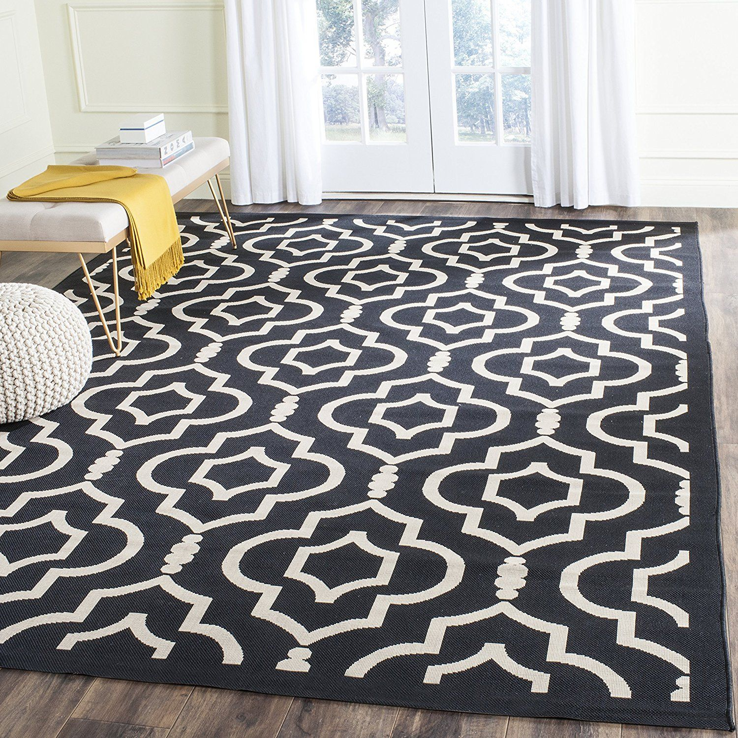 Large Black And White Area Rug Affiliate Link Inexpensive Rugs