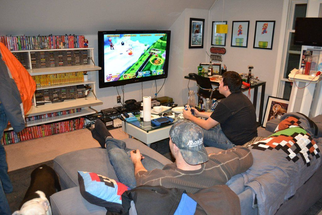 James Game Room Geek Cave Game Rooms And Men Cave - Retro games room ideas