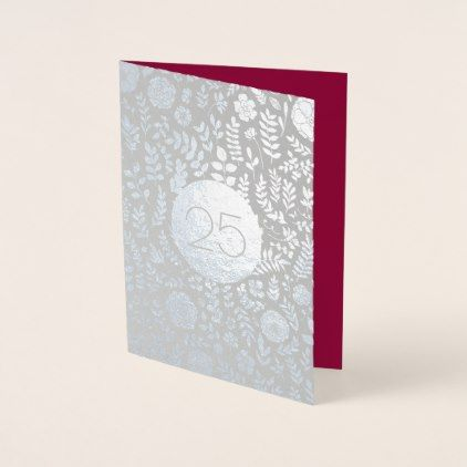 25th Silver Anniversary Real Foil Greeting Cards | Zazzle.com #20thanniversarywedding