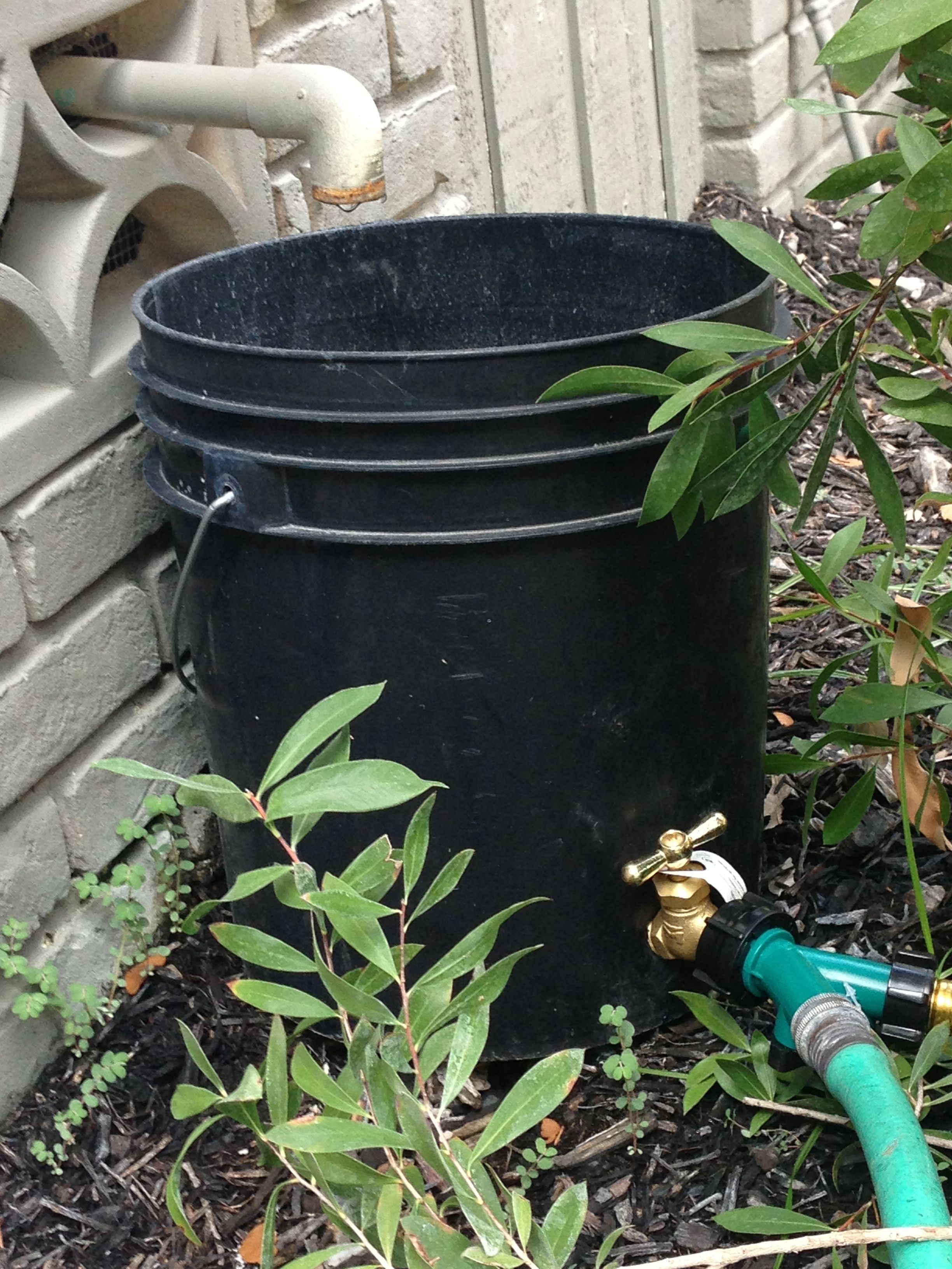 AC drip water collected & repurposed 5 gal water bucket