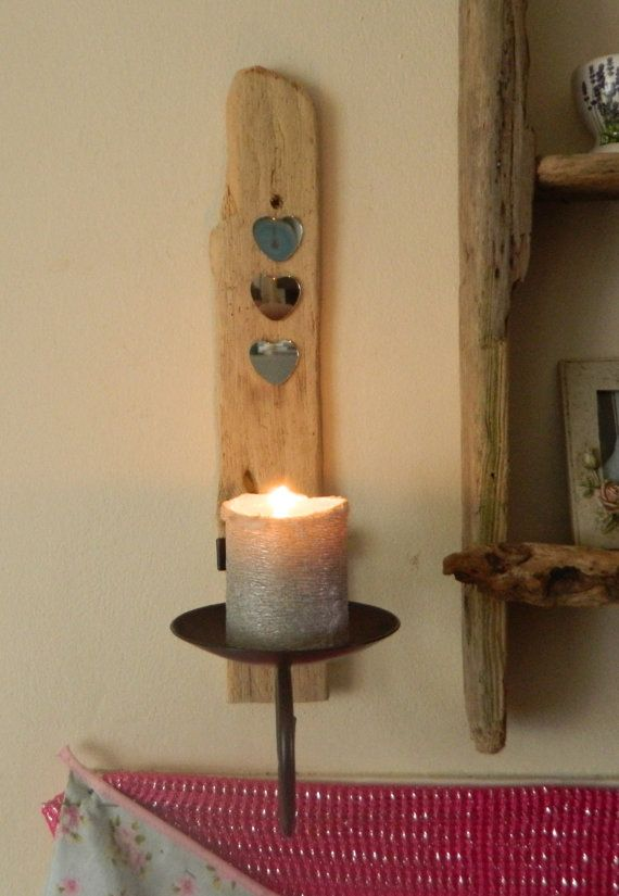 Driftwood Sconce Church Candle Holder by DriftwoodArtDesigner £32.00 & Driftwood Sconce Church Candle Holder by DriftwoodArtDesigner ...
