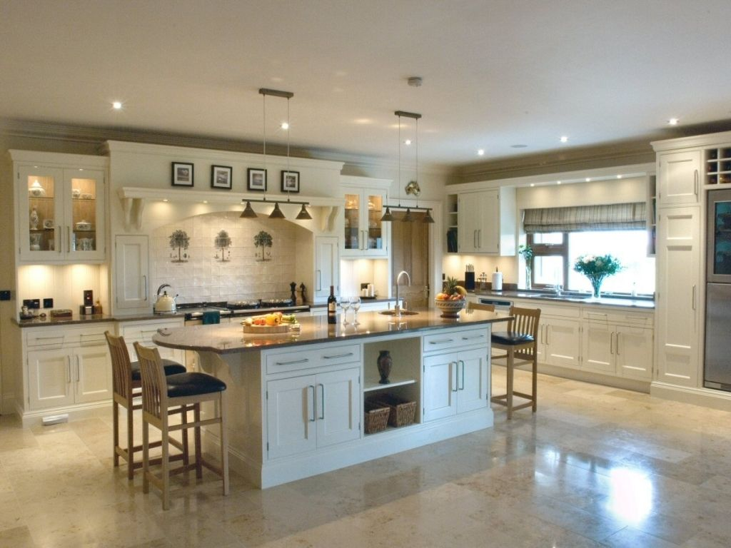 Large Kitchen Layouts Big Beautiful Kitchens All About Big Kitchen