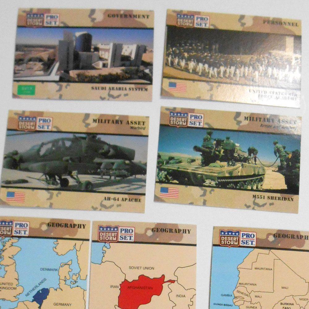 1991 operation desert storm proset trading cards military