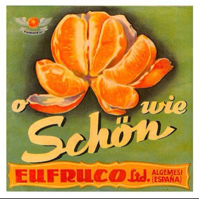 Naranjas Retro Vintage Orange Vintage