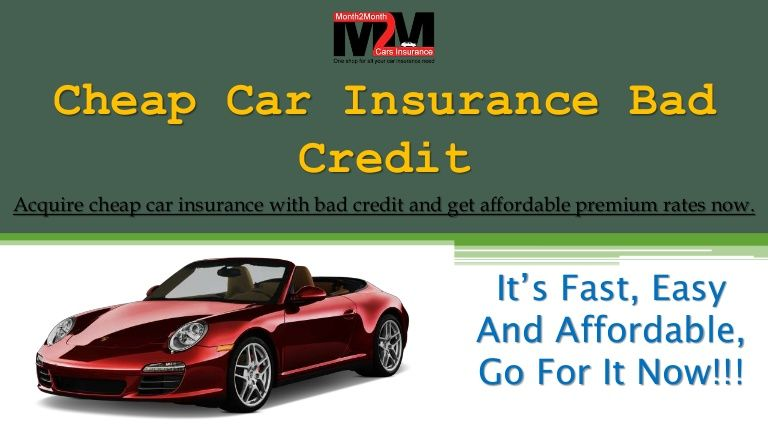 Cheap Car Insurance With Bad Credit For Young Drivers Online