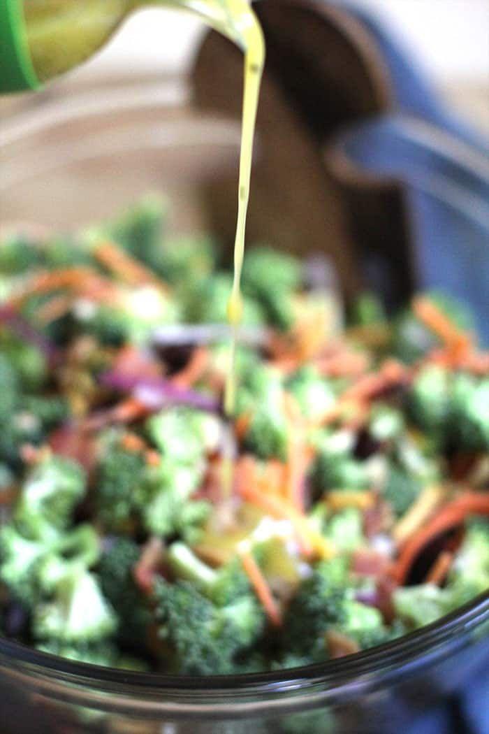 Healthy Broccoli Salad with Honey Dijon Dressing   Recipe ...