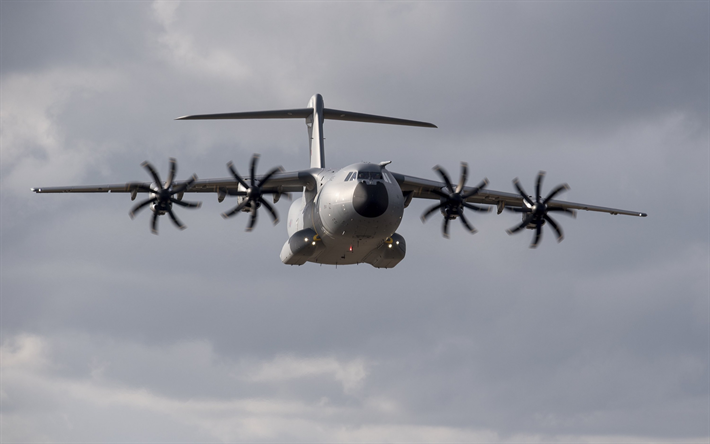 Download Wallpapers Military Transport Aircraft Airbus A400M