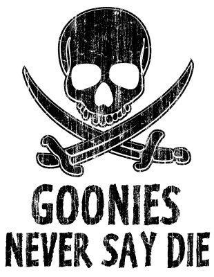 5cd521398cf559a3002bde7985213065 goonies never say die meme printed on aluminum by championawards