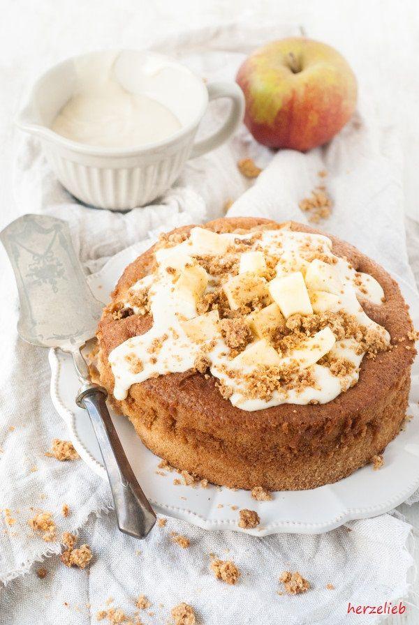 Apfelstreuselkuchen zum Geburtstag. Mit diesem Rezept schenkt man ein Stück Freude.