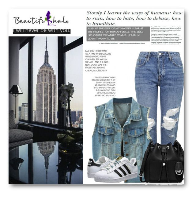 """""""Beautifulhalo 34"""" by lara-fam ❤ liked on Polyvore featuring Topshop, adidas Originals, MICHAEL Michael Kors, women's clothing, women's fashion, women, female, woman, misses and juniors"""