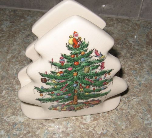 Christmas Tree Napkin Pattern: Spode-Christmas-Tree-Pattern-Napkin-Holder