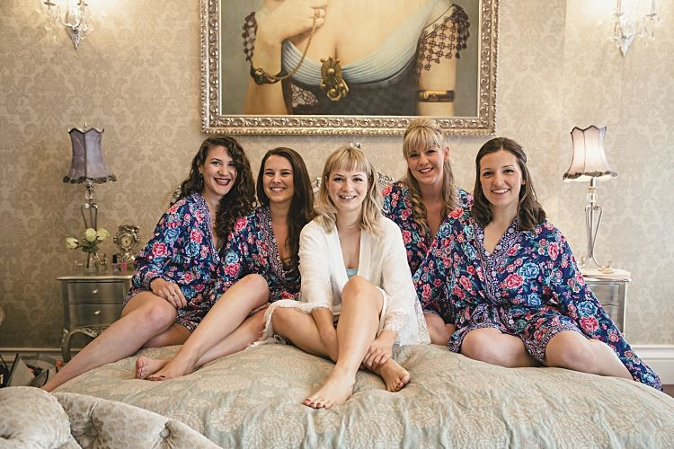 Colourful Home Made Vintage City Wedding | Floral dressing gown ...