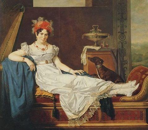 Shatovthings Portrait De Madame De Stael Allongee Sur Une Meridienne Michel Ghislain Stapleaux 1810 S 1820 S Napoleon Josephine Napoleon Regency Era