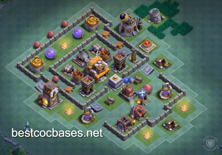 Clash Of Clans Builder Base Level 5 Clash Of Clans Clan Builder