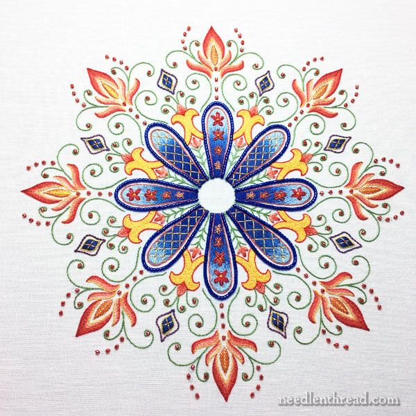 Party in Provence - an embroidered kaleidoscope from Needle 'n Thread. This was my weekend finish - so much fun to stitch!