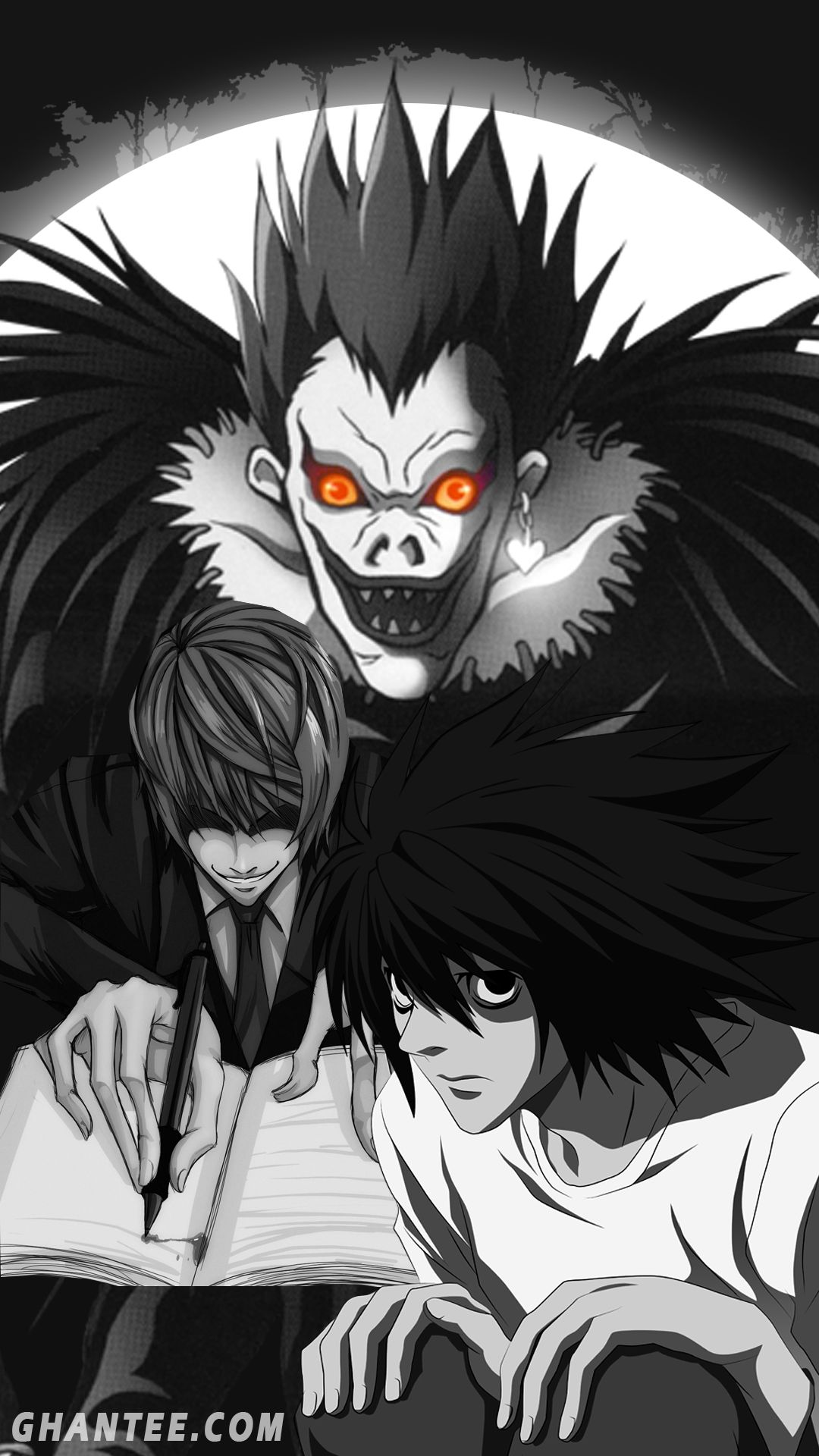 Anime Wallpaper Android Deathnote In 2020 Anime Wallpaper Death Note Anime