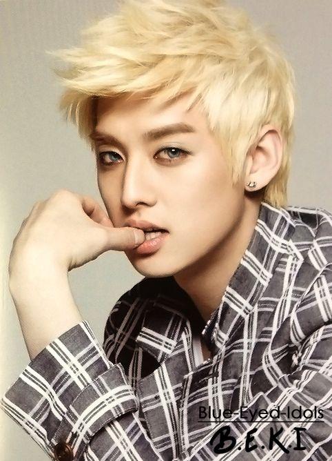 Blue Eyed Idols U Kiss Korean Idol Blonde Asian