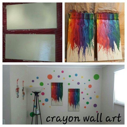 Crayon wall art!!