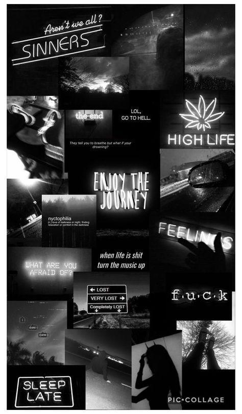 black aesthetic collage