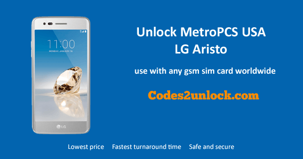 Unlock MetroPCS USA LG Aristo allows you to use it with any