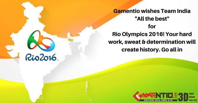 #Rio #Olympics #2016-Gamentio wishes Team India all the luck and success!
