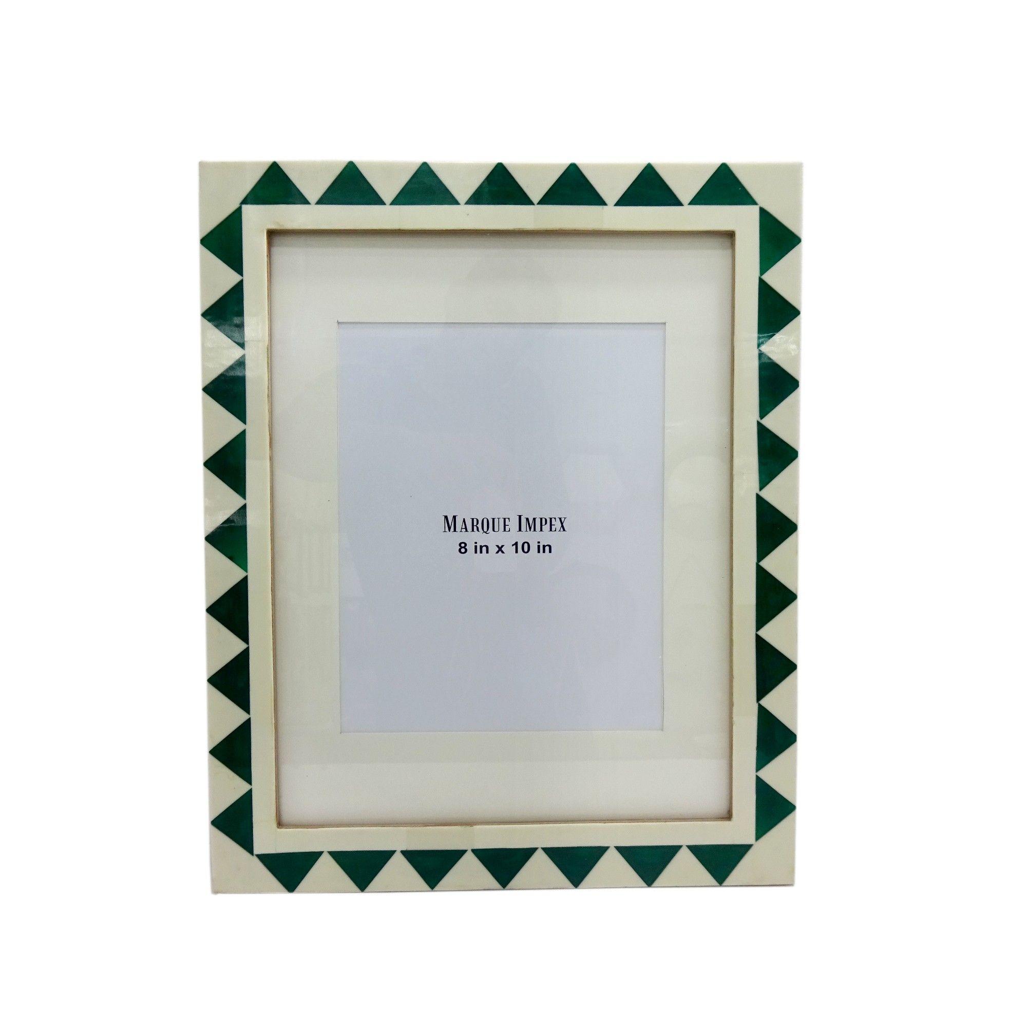 8 X 10 White And Aqua Resin Frame Opalhouse Digital Picture Frame Opalhouse Frame