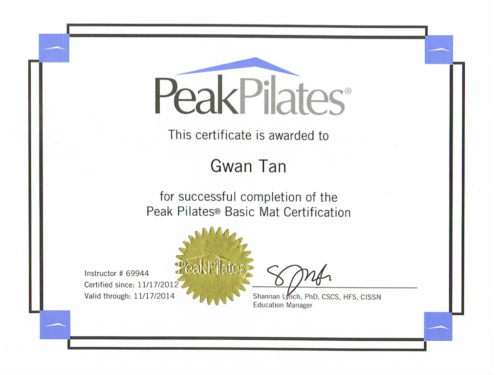 pilates training certificate - My Yahoo Image Search Results | NEY ...